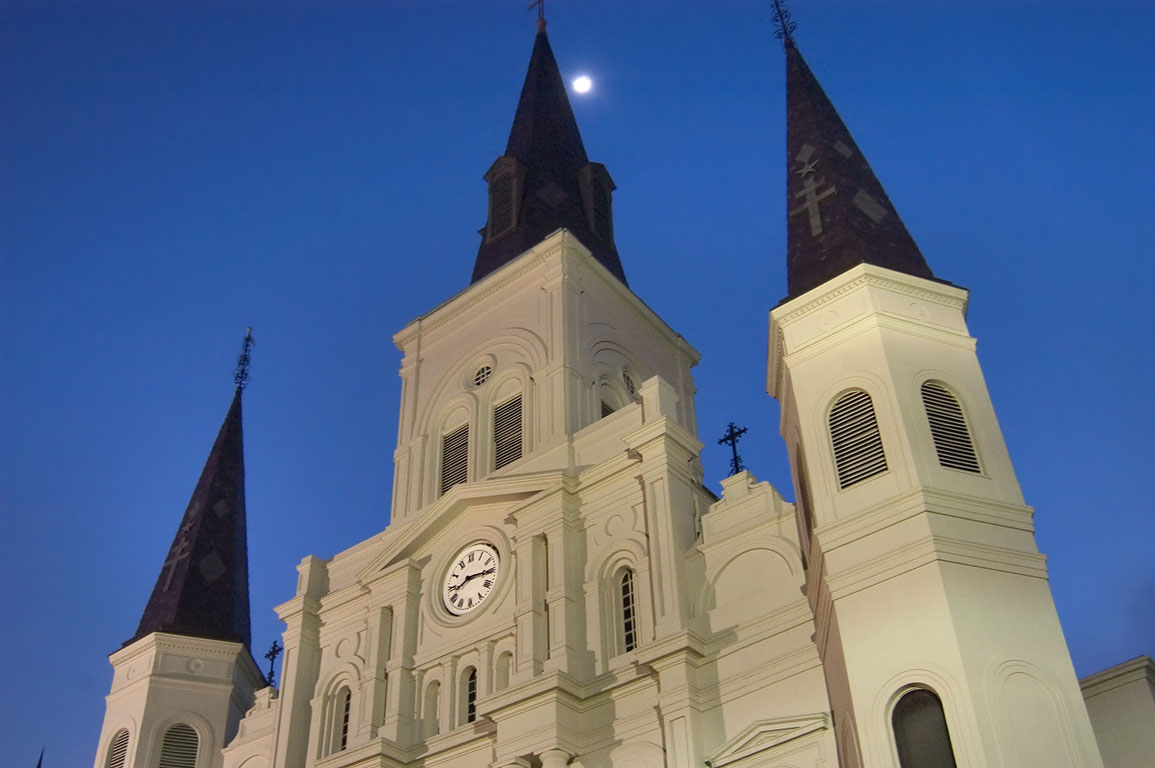 St.Louis Cathedral at evening. New Orleans, Louisiana
