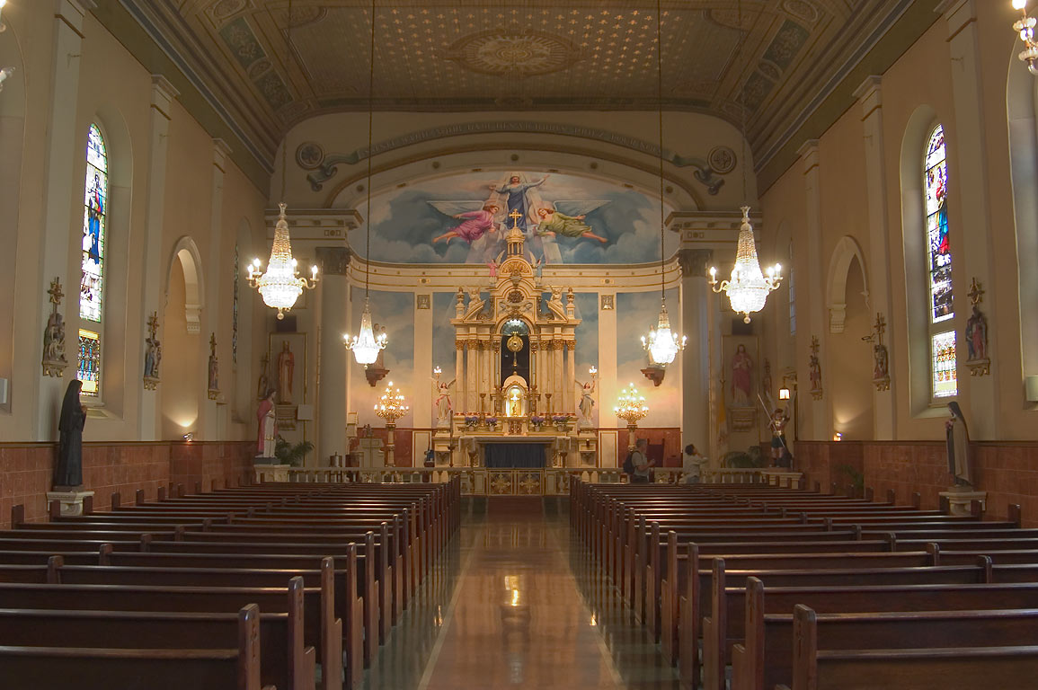 Interior of St.Mary's Church in Old Ursuline Convent. New Orleans, Louisiana