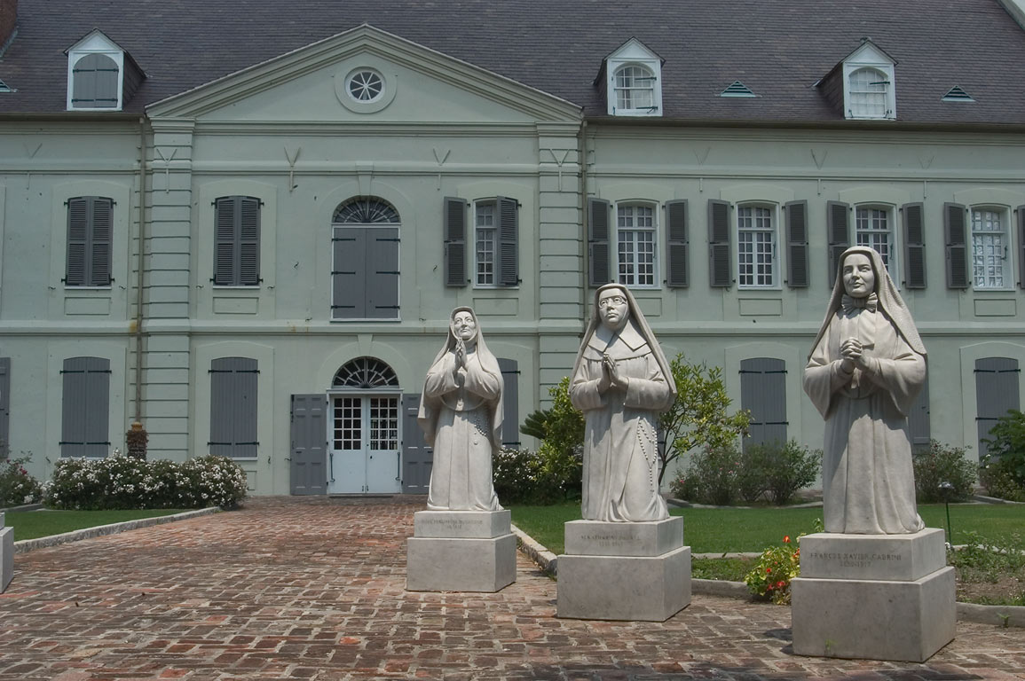 Statues of Frances Xavier Cabrini and other...Convent. New Orleans, Louisiana