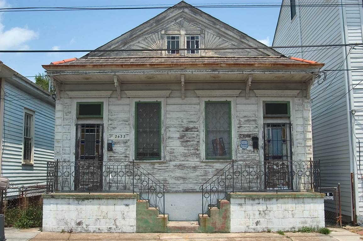 A house at 2433-2435 Burgundy St. near Spain St...Marigny. New Orleans, Louisiana