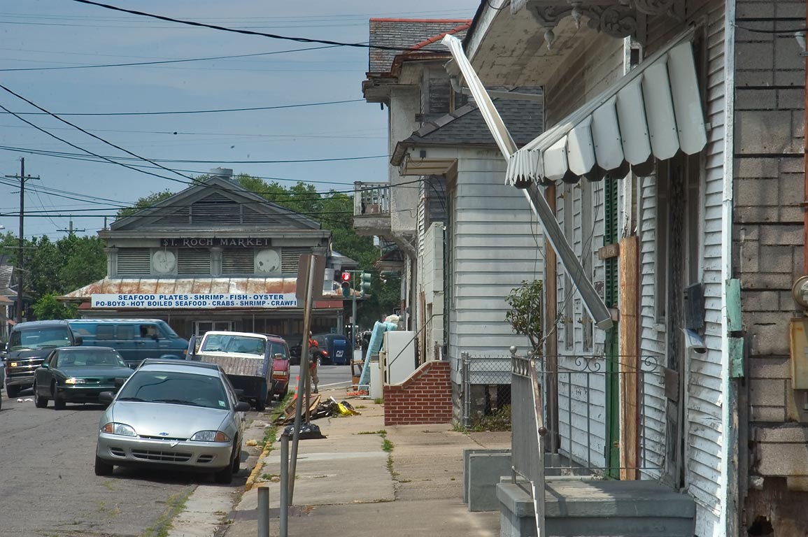 St.Roch Market, view from North Rampart St. in Faubourg Marigny. New Orleans, Louisiana