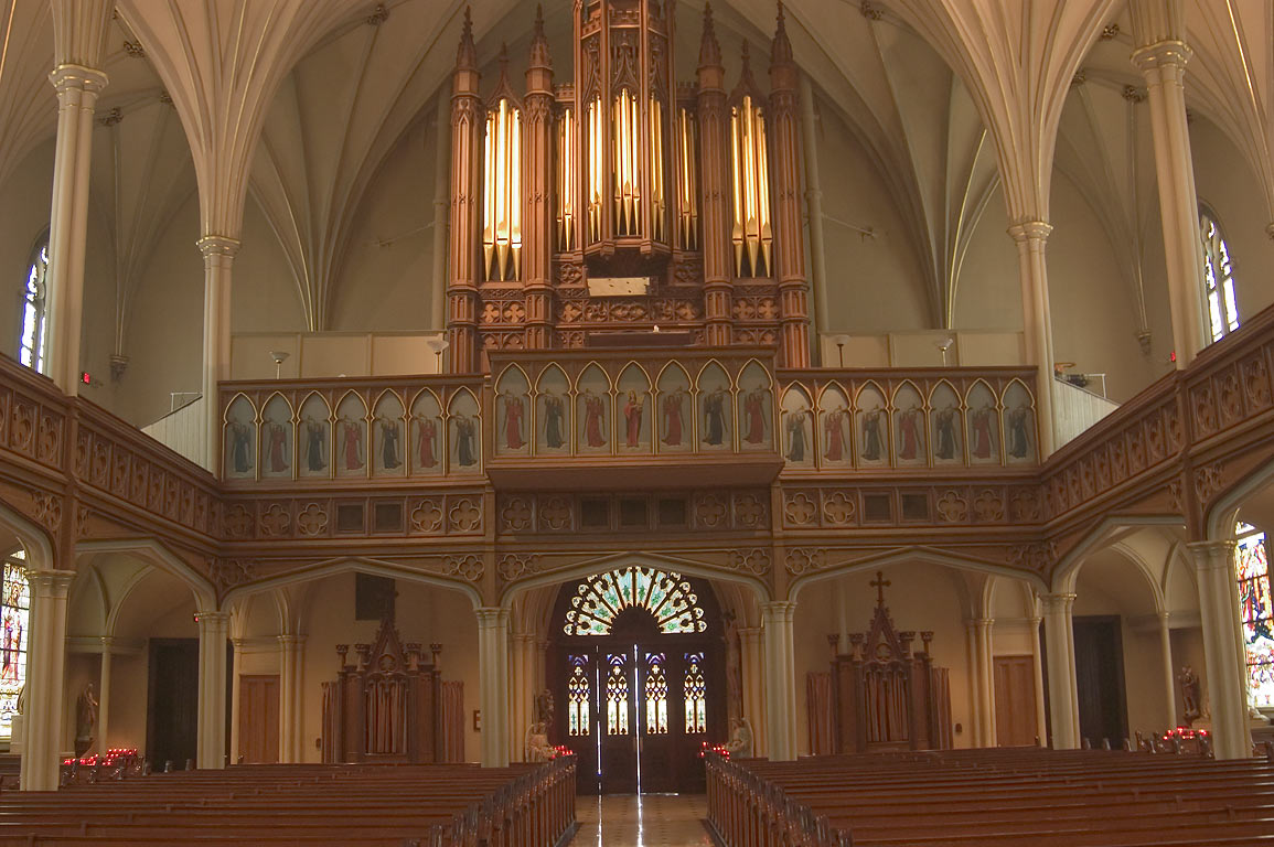 Moller organ of St.Patrick's Cathedral. New Orleans, Louisiana