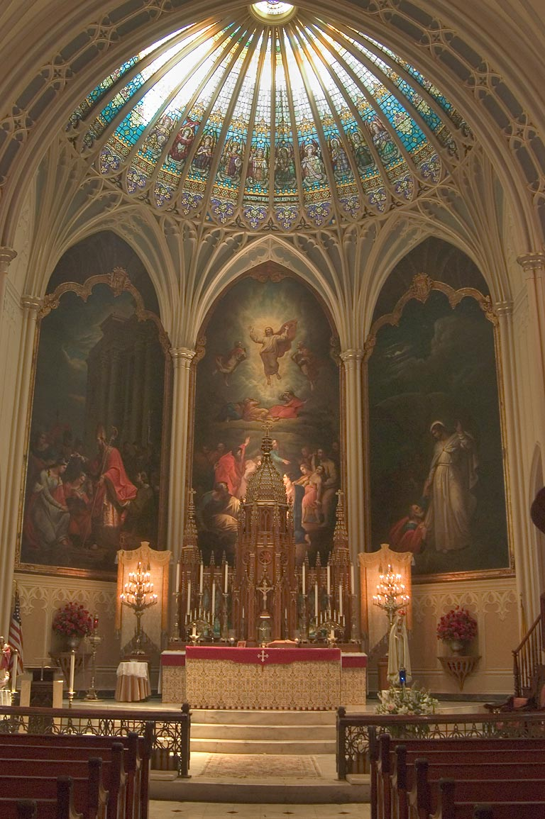 Interior of St.Patrick's Catholic Church. New Orleans, Louisiana