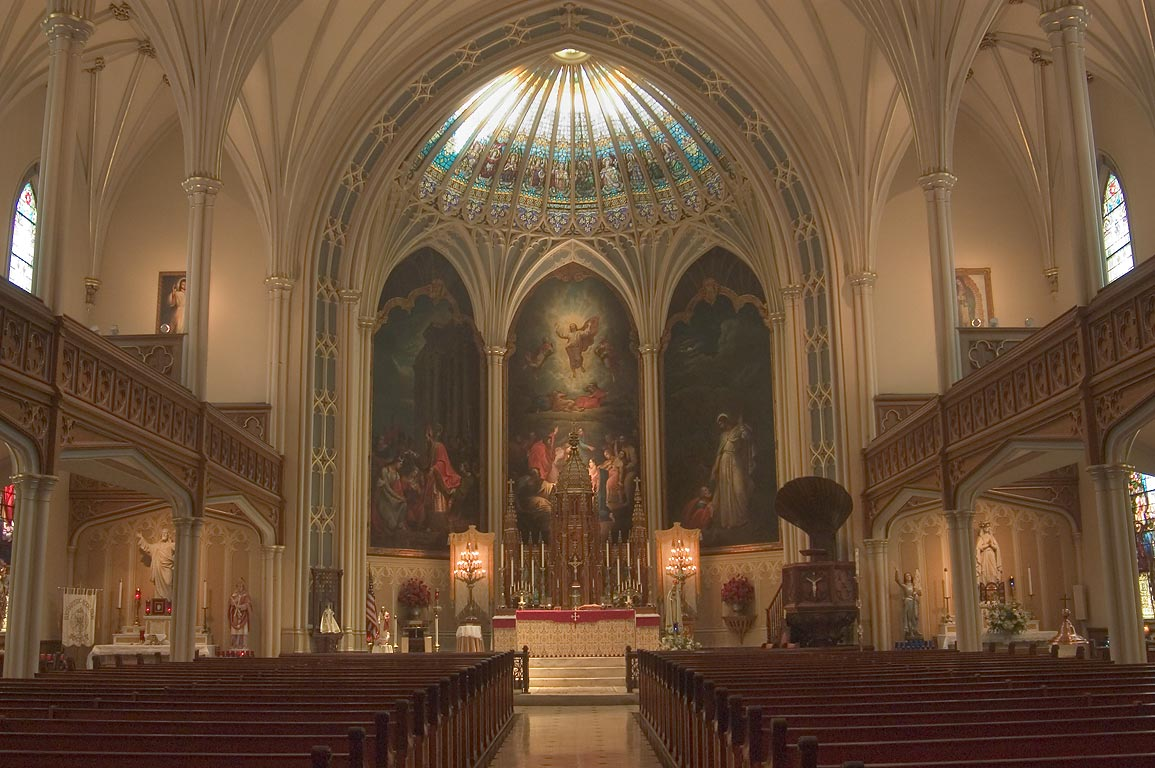Interior of St.Patrick's Roman Catholic Church. New Orleans, Louisiana