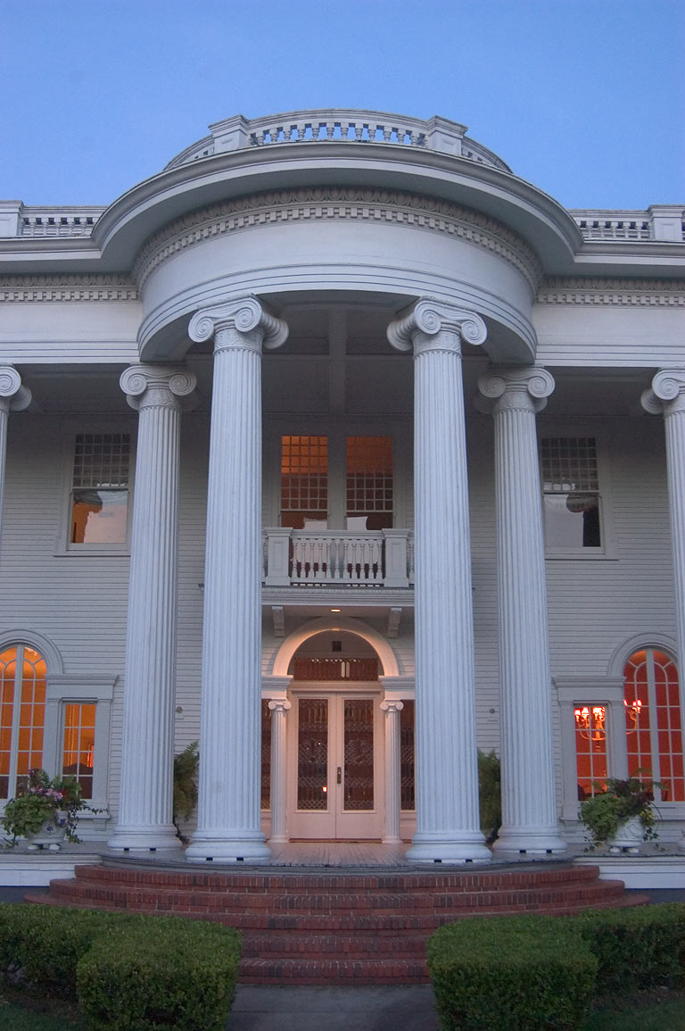 Columns of Shaffer-Putnam-Springer House at 11...Charles Ave.. New Orleans, Louisiana