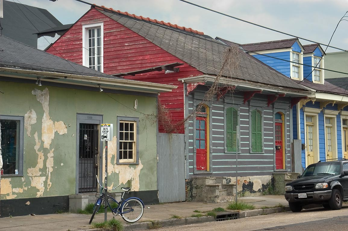 Royal St. near corner with Touro St. in Faubourg Marigny. New Orleans, Louisiana