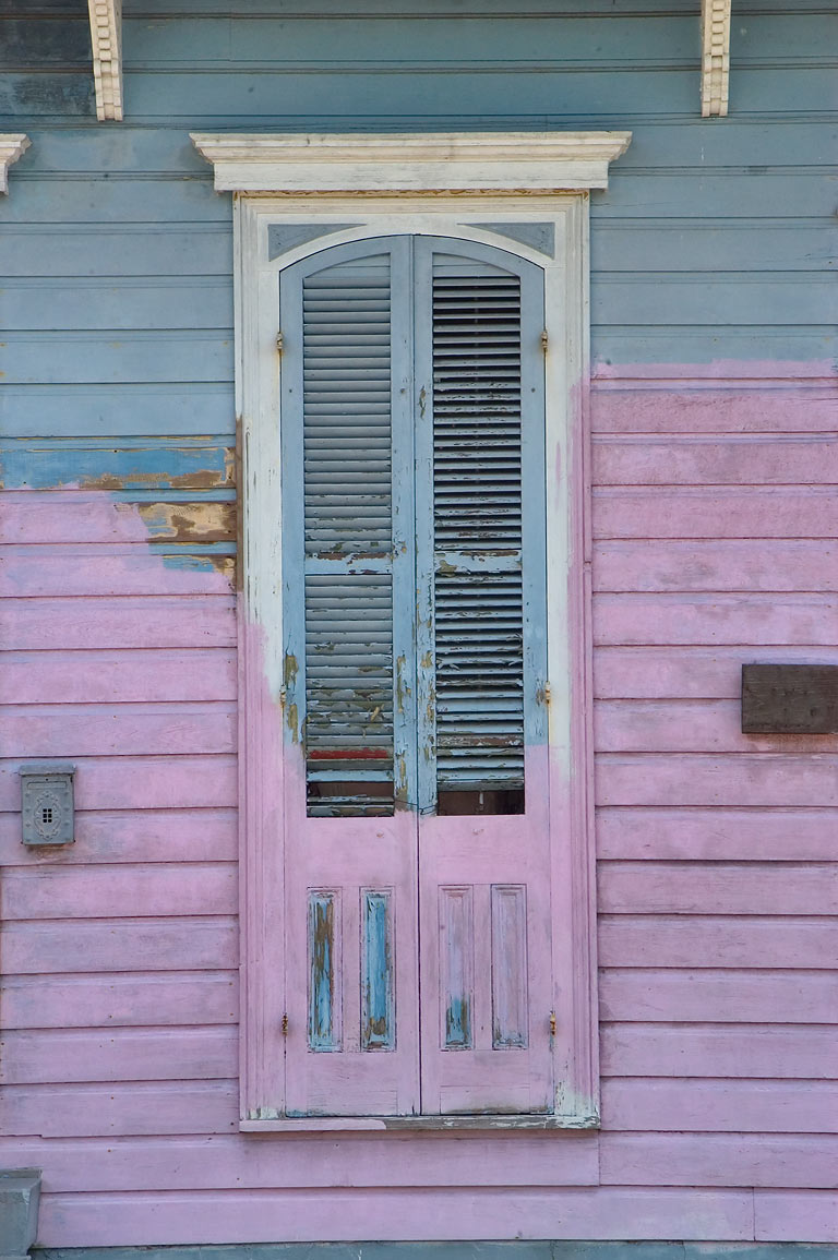 A doorway in area of Chartres St. in Bywater. New Orleans, Louisiana