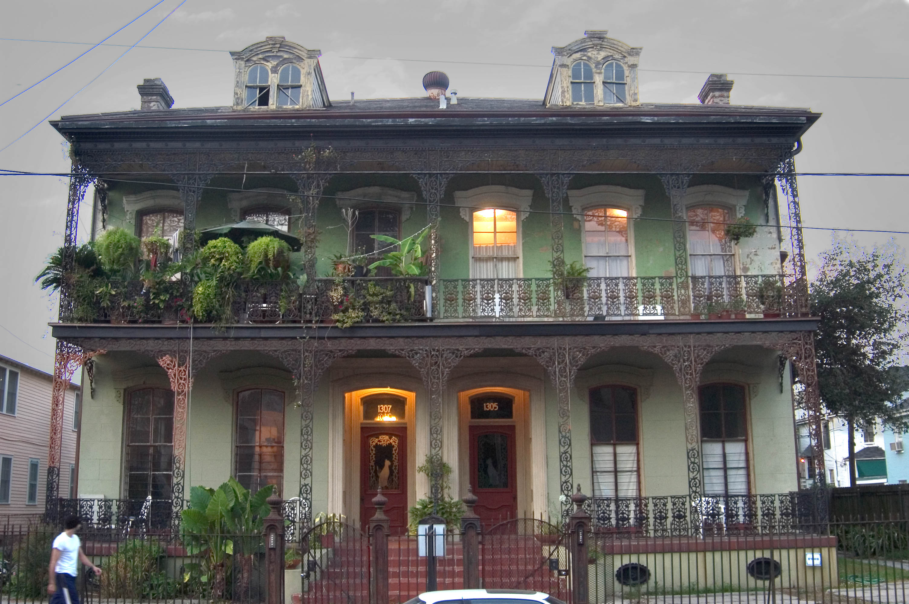 Photo 451 05 Conery Byrnes House At 1307 1305 St Andrew St In At Evening New Orleans Louisiana