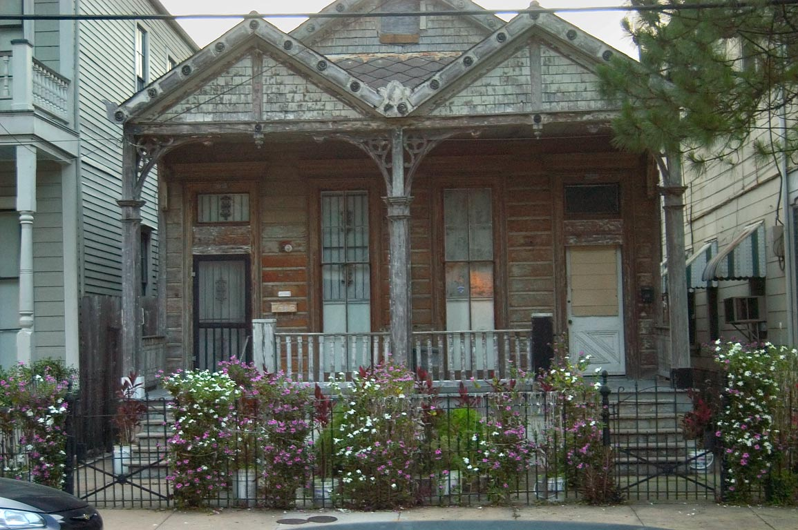 A house near east end of Camp St. in Lower Garden...at evening. New Orleans, Louisiana
