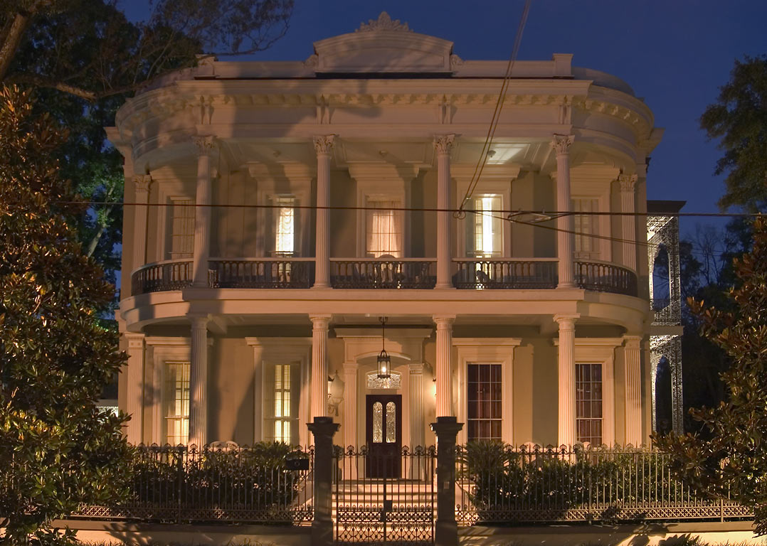 Robinson House (1862-66) at 1415 3rd St. in Garden District. New Orleans, Louisiana