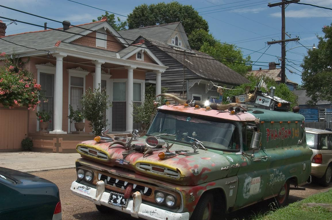 Gallier St. in Bywater. New Orleans, Louisiana