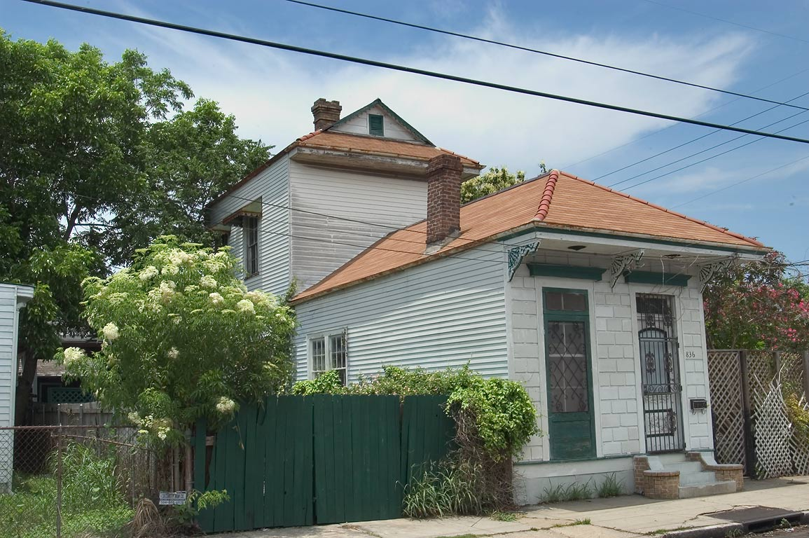 "Camelback"" house in the area of Dauphine St. in Bywater. New Orleans, Louisiana"