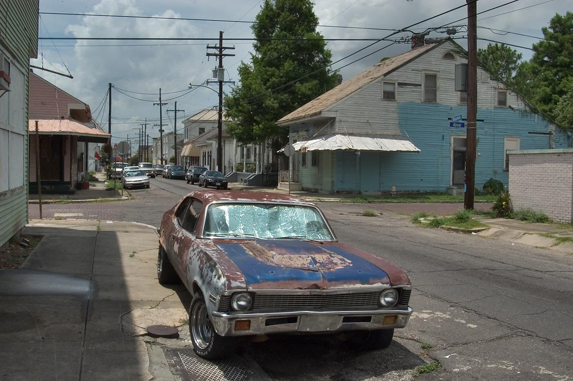 A corner of Dauphine and Alvar streets in Bywater. New Orleans, Louisiana