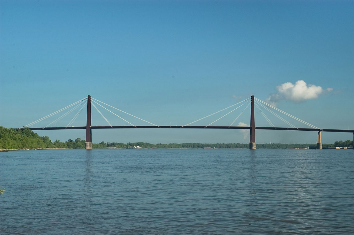 Hale Boggs Bridge across Mississippi River in Luling. Louisiana