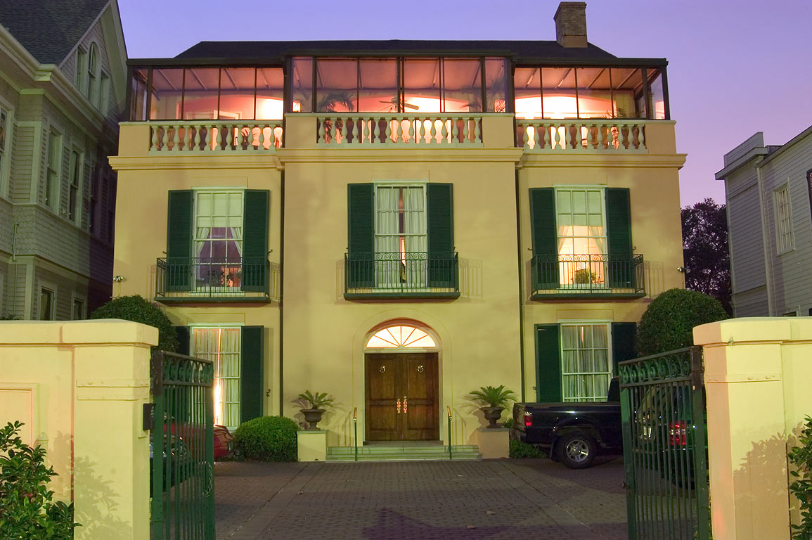 Dorian Benett condominium at 2721 St.Charles Ave. at evening. New Orleans, Louisiana