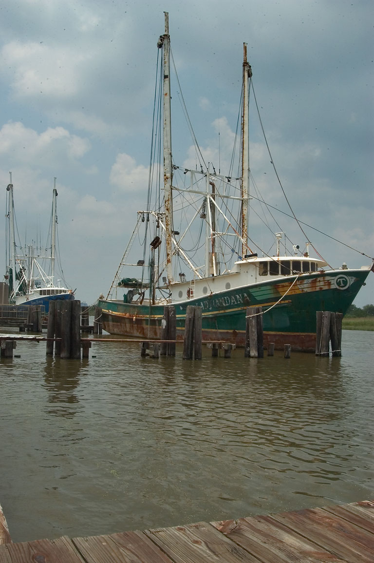 Fishing vessels near Rd. 3011, Terrebonne Parish. Louisiana