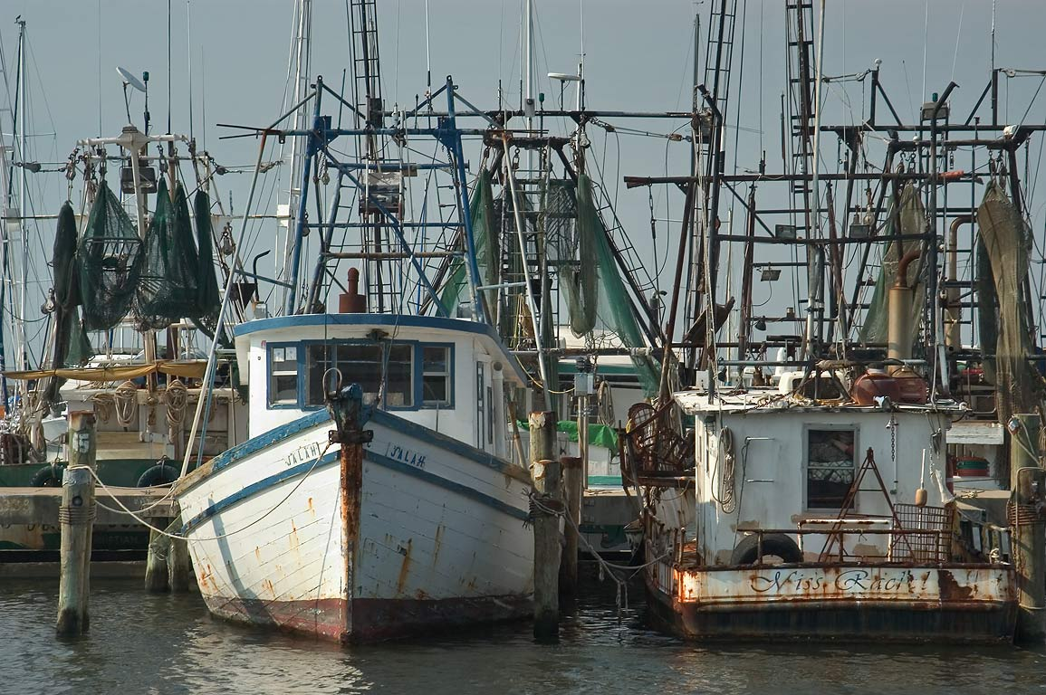 "Fishing boats ""Jalah"" and ""Miss Rachel"" in docks of Pass Christian. Mississippi"