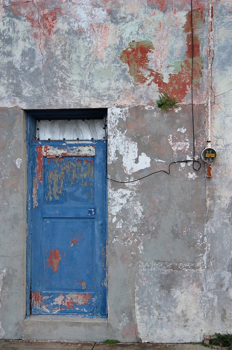 A doorway near Dauphine St. in Bywater. New Orleans, Louisiana