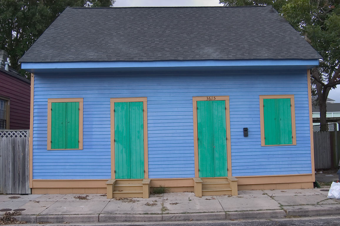 A freshly painted house at 3615 North Rampart St. in Bywater. New Orleans, Louisiana