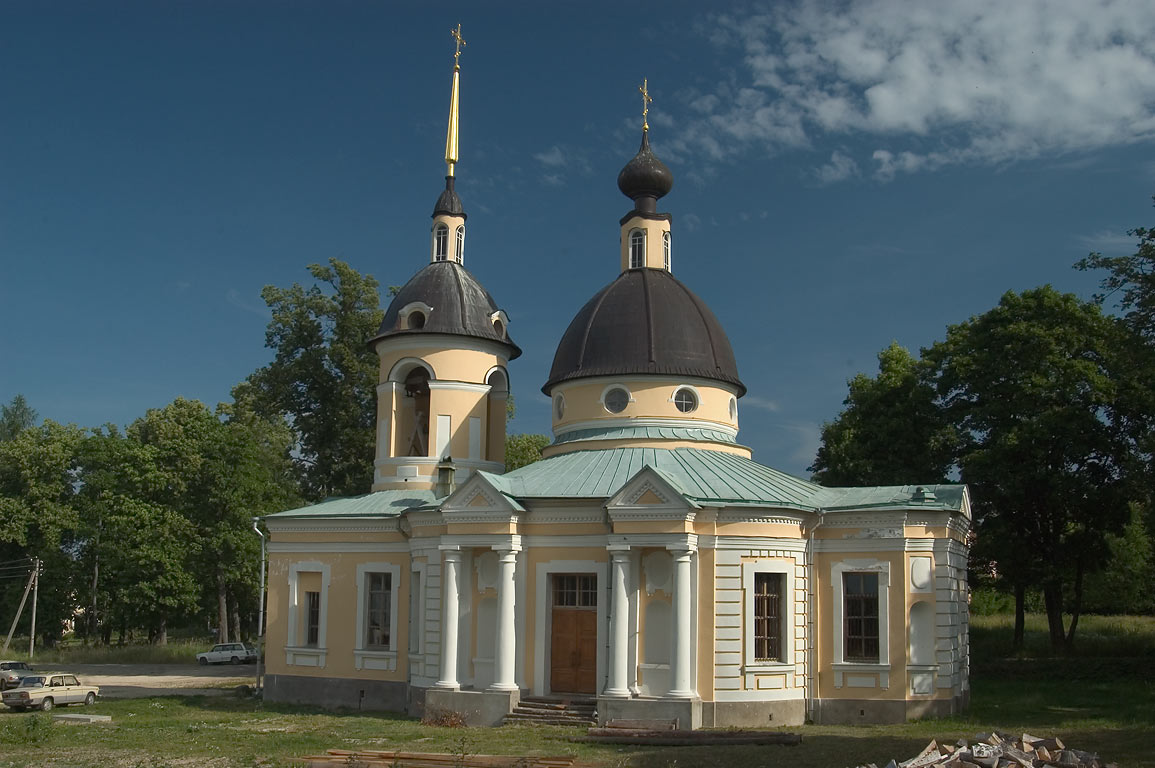Trinity Church (1755) in Gostilitsy village. Leningrad Region, Russia