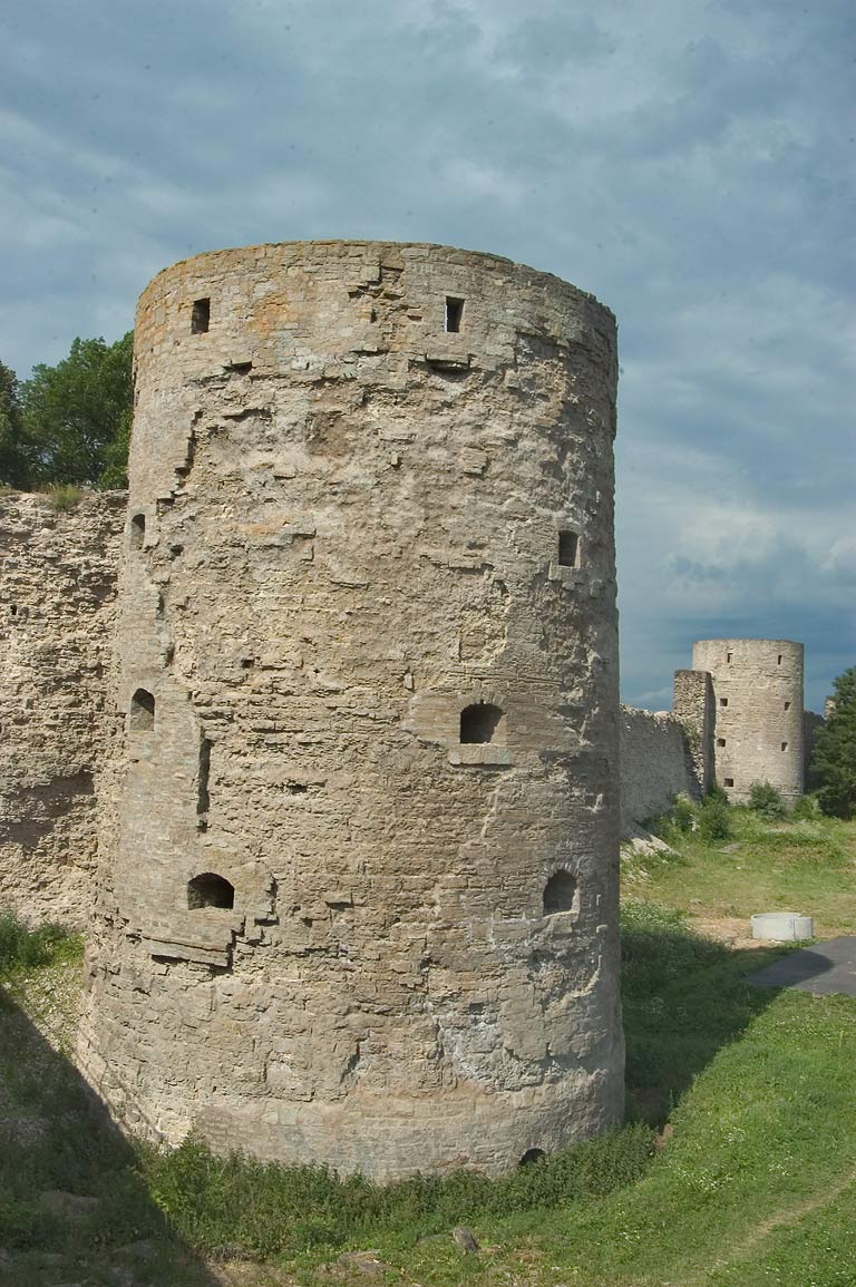Towers and walls of Koporye Fortress. Leningrad Region, Russia