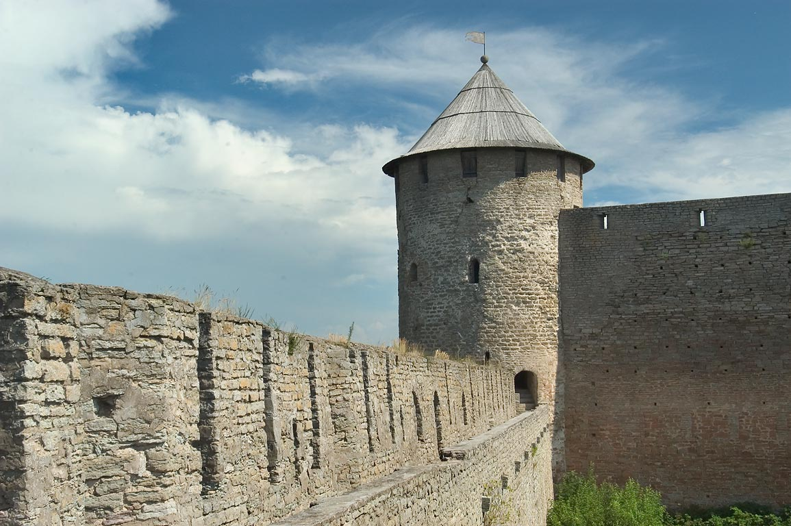 Novaya (New) Tower of Ivangorod Fortress. Leningrad Region, Russia