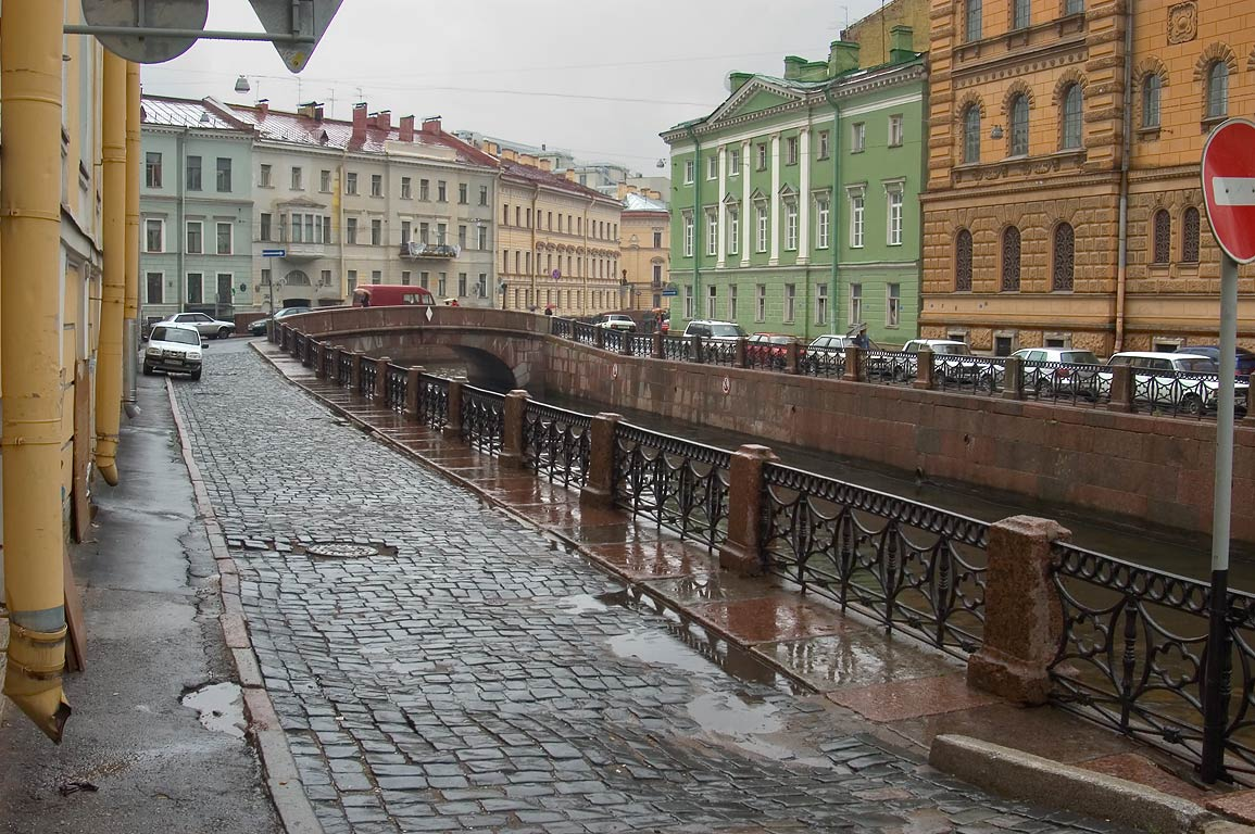 Winter Canal near Hermitage. St.Petersburg, Russia