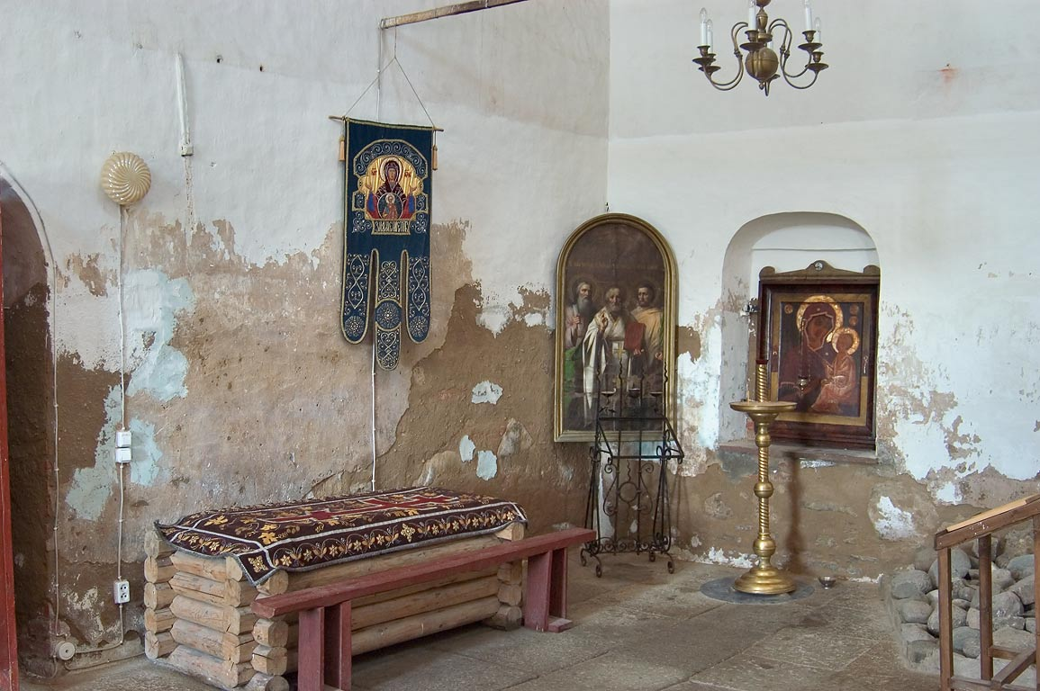 Interior of a church in Old (Staraya) Ladoga. Leningrad Region, Russia