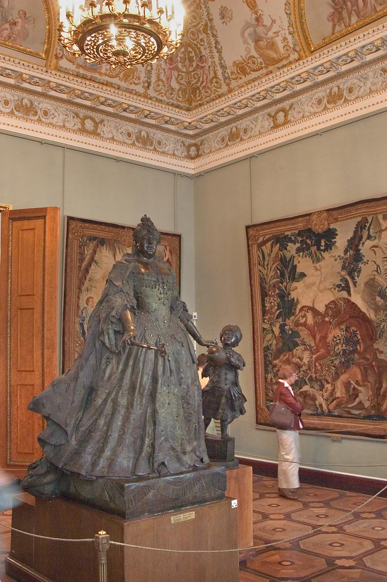 Catherine the Great statue in Russian Museum. St.Petersburg, Russia