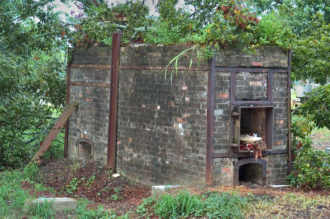 Old crematory oven in Holt Cemetery. New Orleans, Louisiana