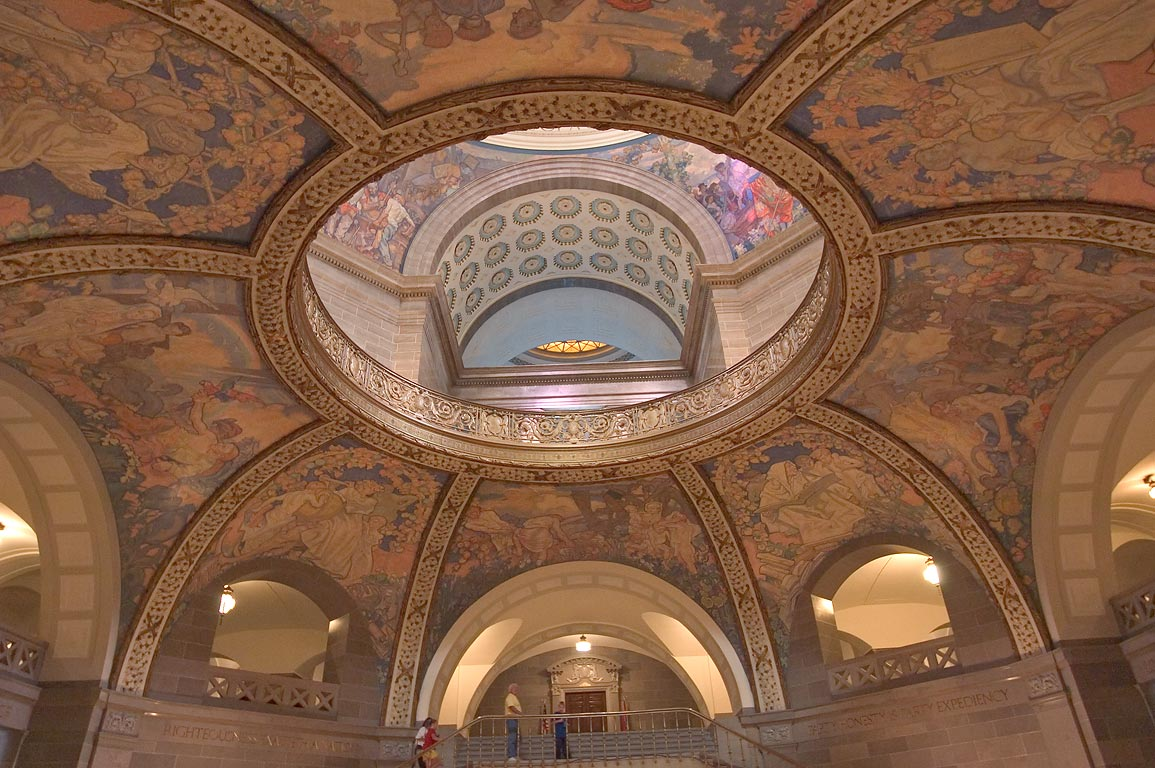 A domed structure in the second floor of Missouri State Capitol. Jefferson City, Missouri