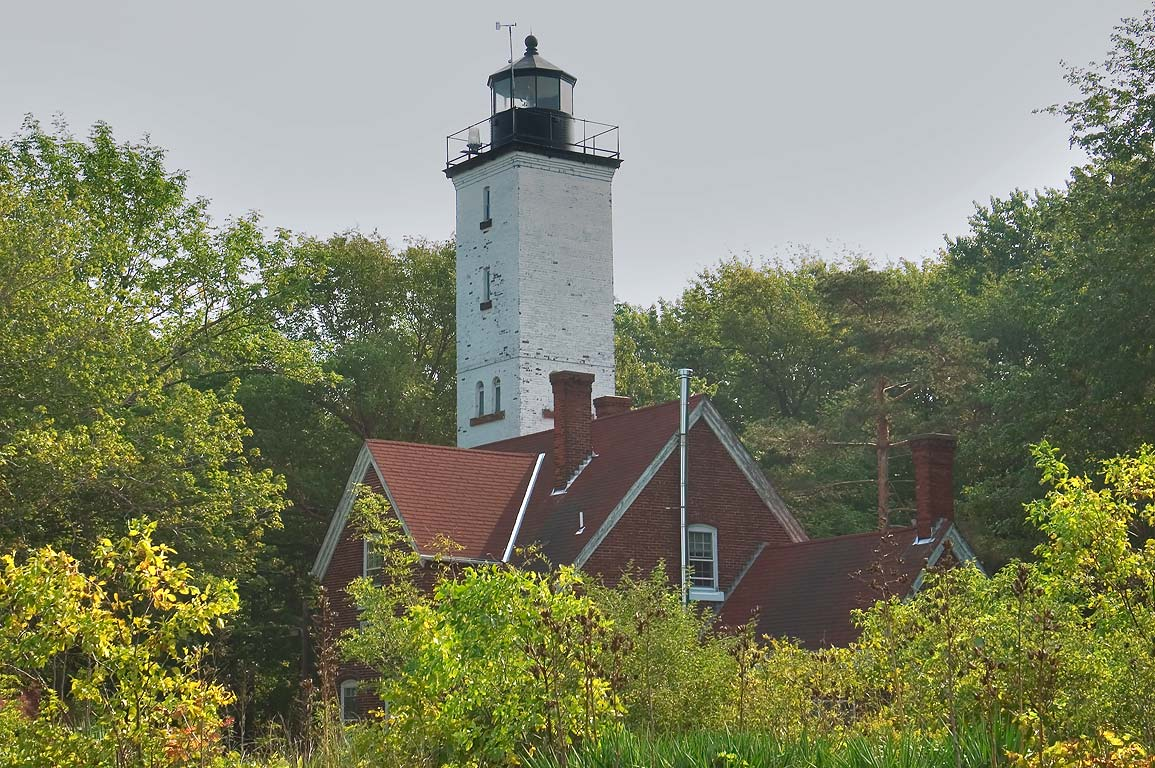 A lighthouse on Presque Isle, near Erie. Pennsylvania