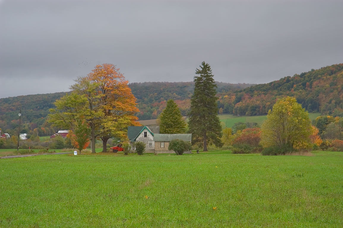 Goetchius Preserve near Flat Iron Rd., view from...Slaterville Rd.. Dryden, New York