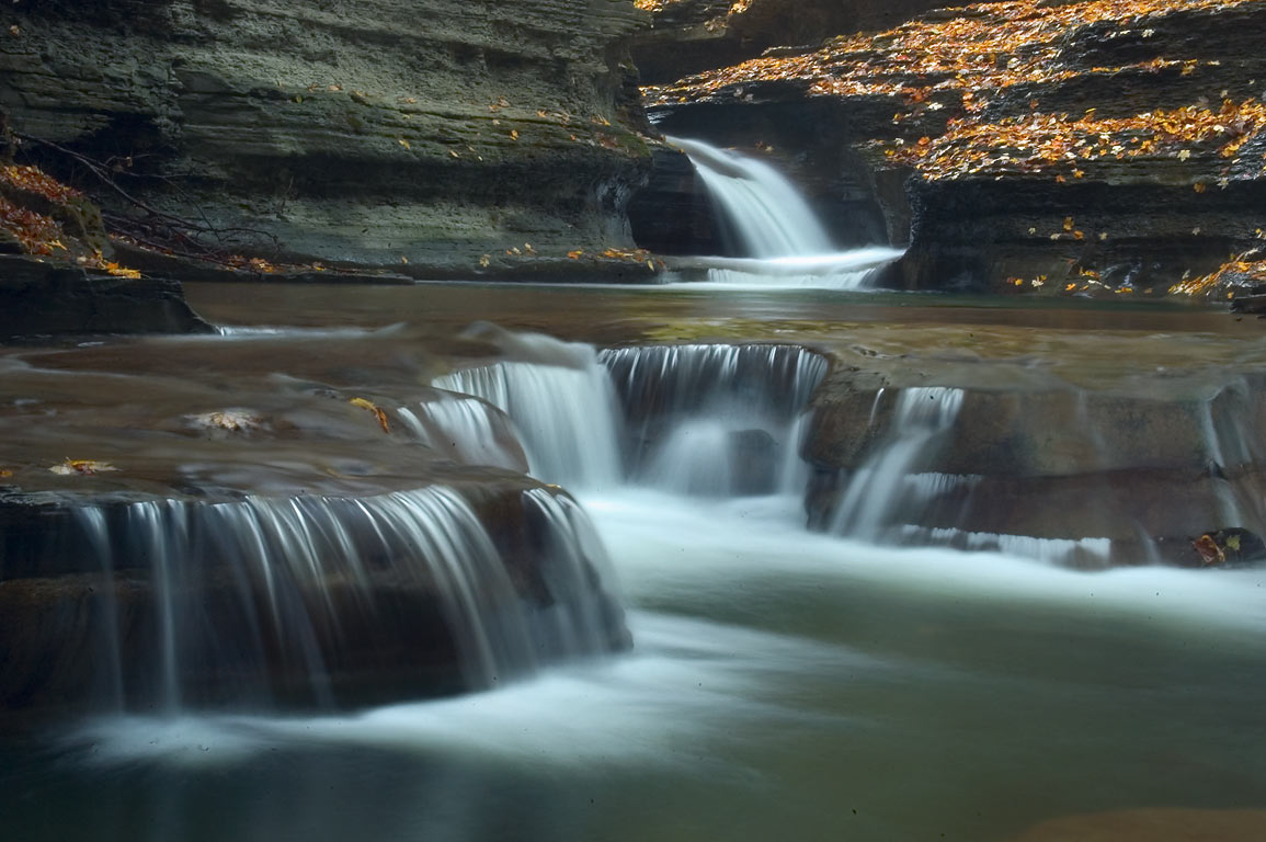 In Buttermilk Falls State Park. Ithaca, New York