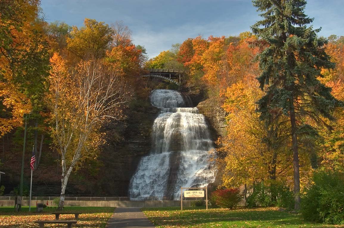 Shequaga Falls in village of Montour Falls. New York