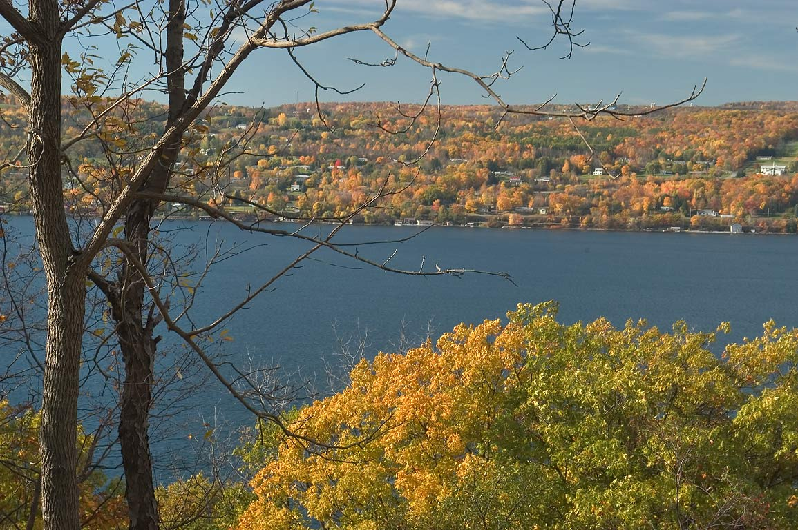 Seneca Lake from Middle Rd. near Watkins Glen. New York