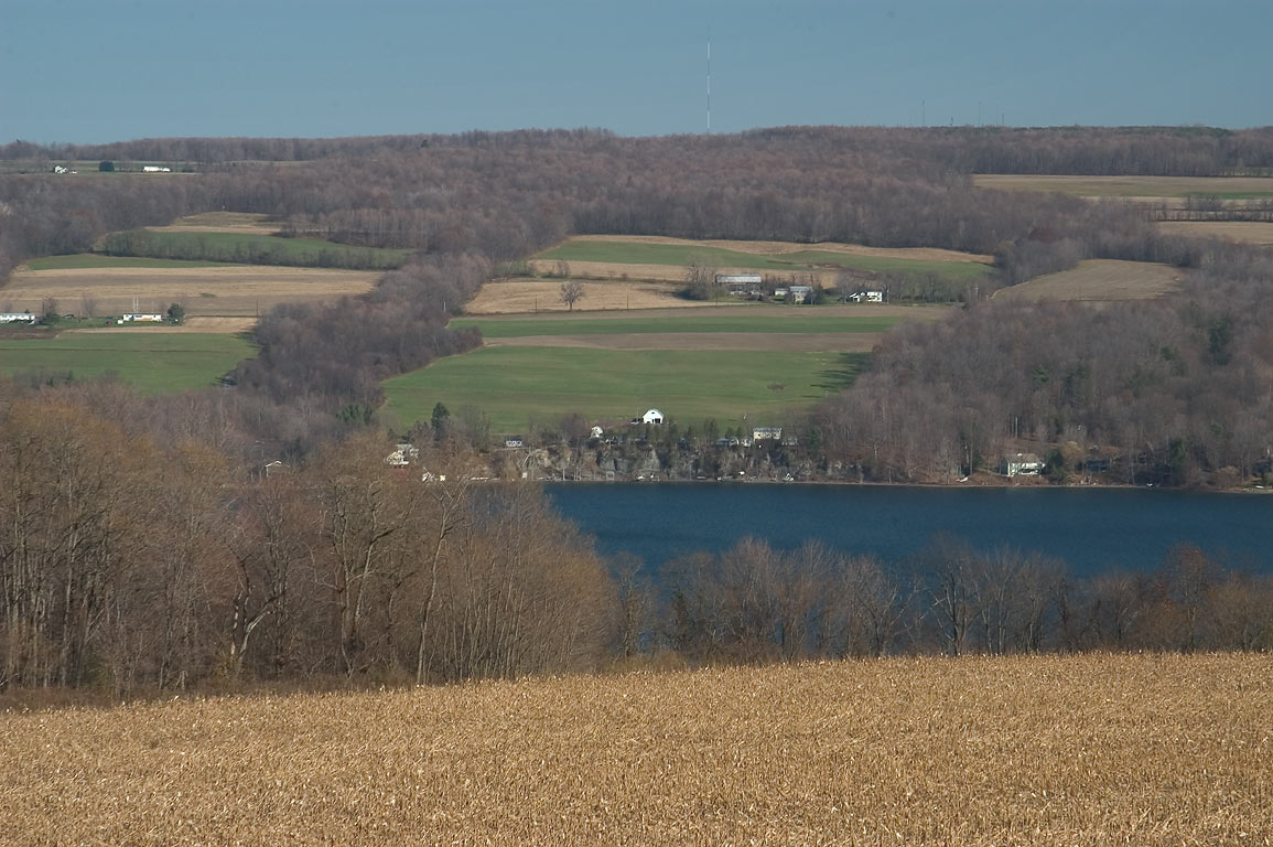 Ithaca, Watkins Glen, New York  - Owasco Lake from Rd. 38. New York