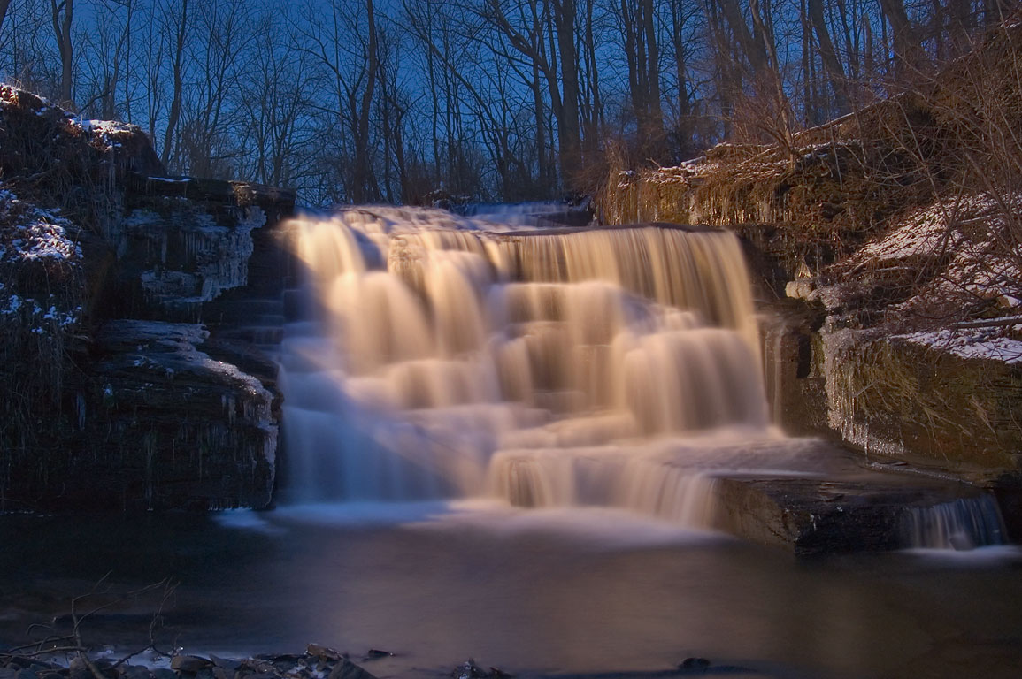 Ruth Waterfall of Gulf Creek in Asbury, north from Ithaca. New York
