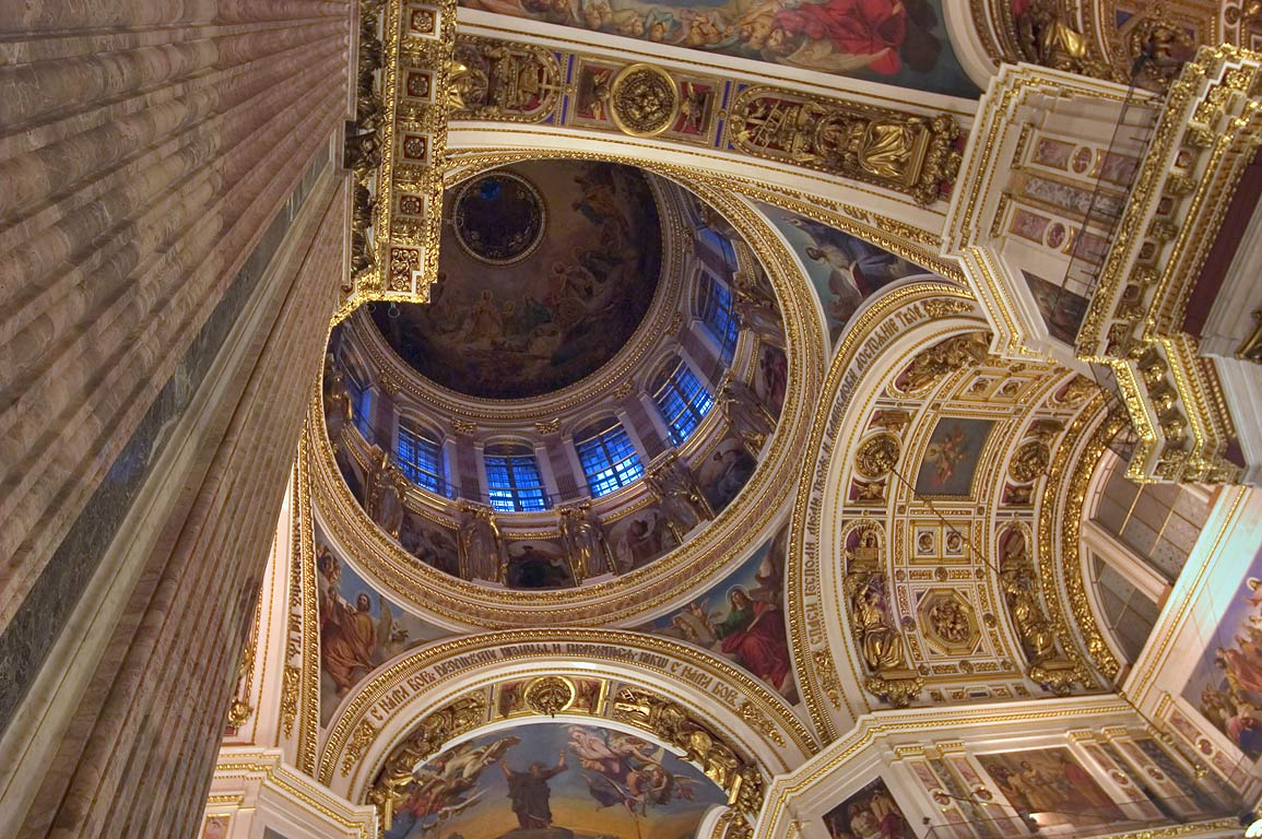 Interior of St.Isaac Cathedral. St.Petersburg, Russia