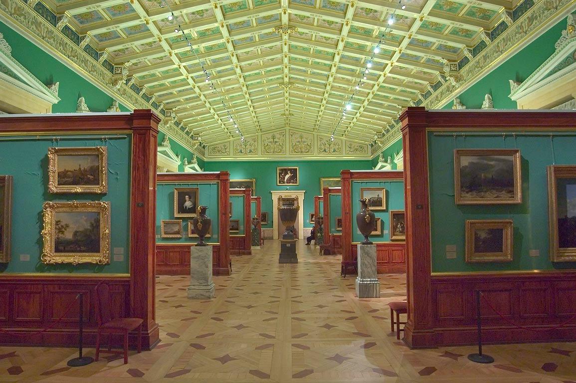 Tent-Roofed Room (Dutch and Flemish art) in Hermitage Museum. St.Petersburg, Russia