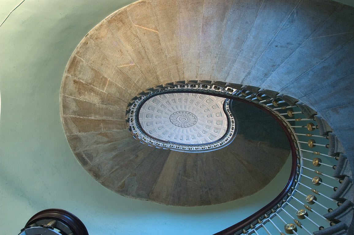 Circular staircase of Agate Pavilion in Pushkin...south from St.Petersburg. Russia
