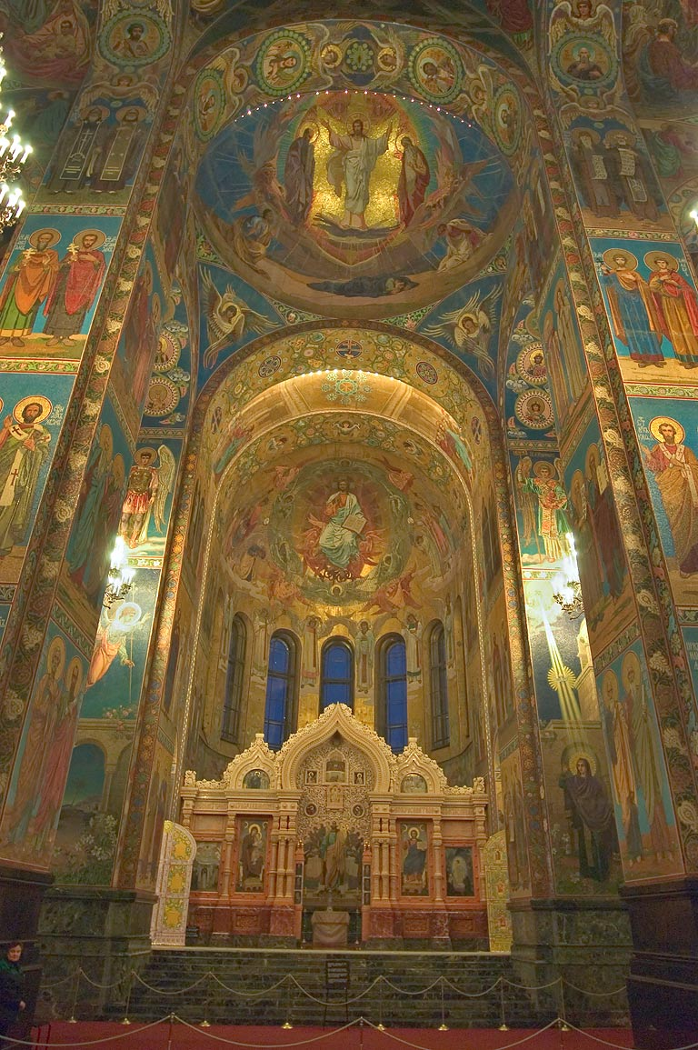 Altar of Church of Savior on Blood. St.Petersburg, Russia