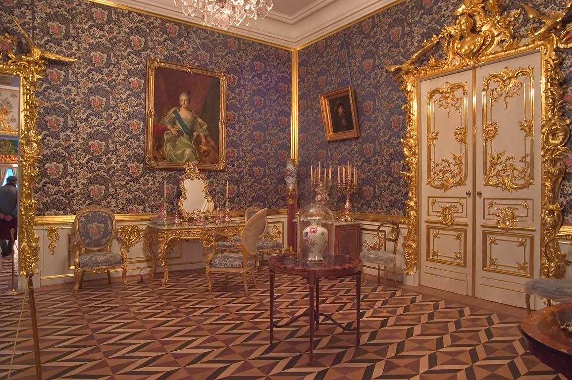 A living room in Grand Palace in Peterhof. Near St.Petersburg, Russia