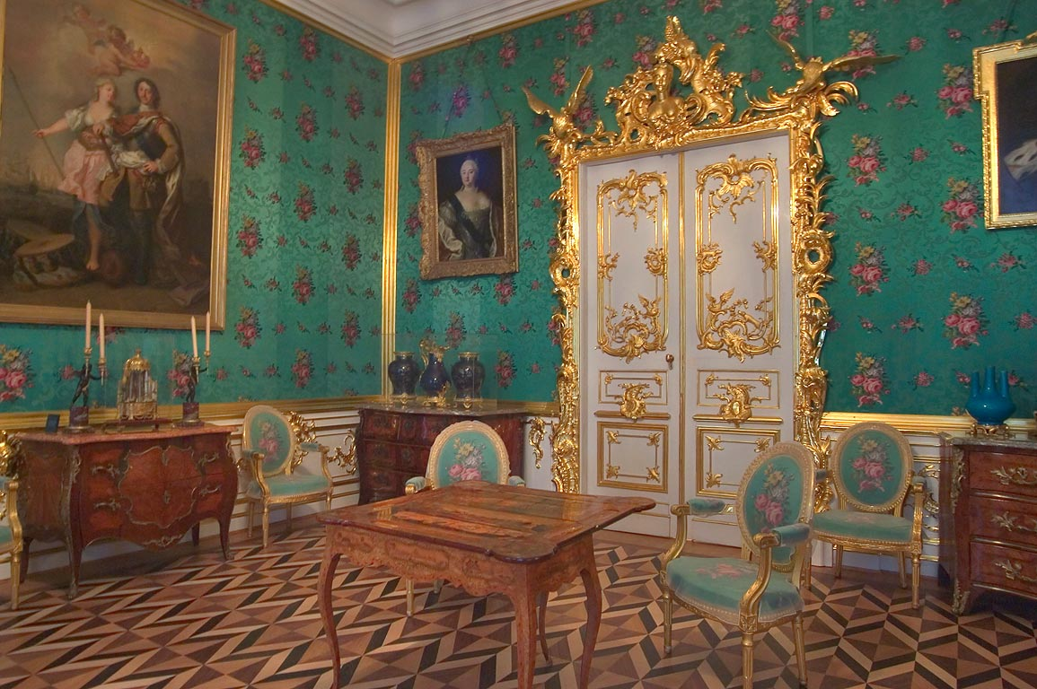 A room in Grand Palace in Peterhof. Near St.Petersburg, Russia
