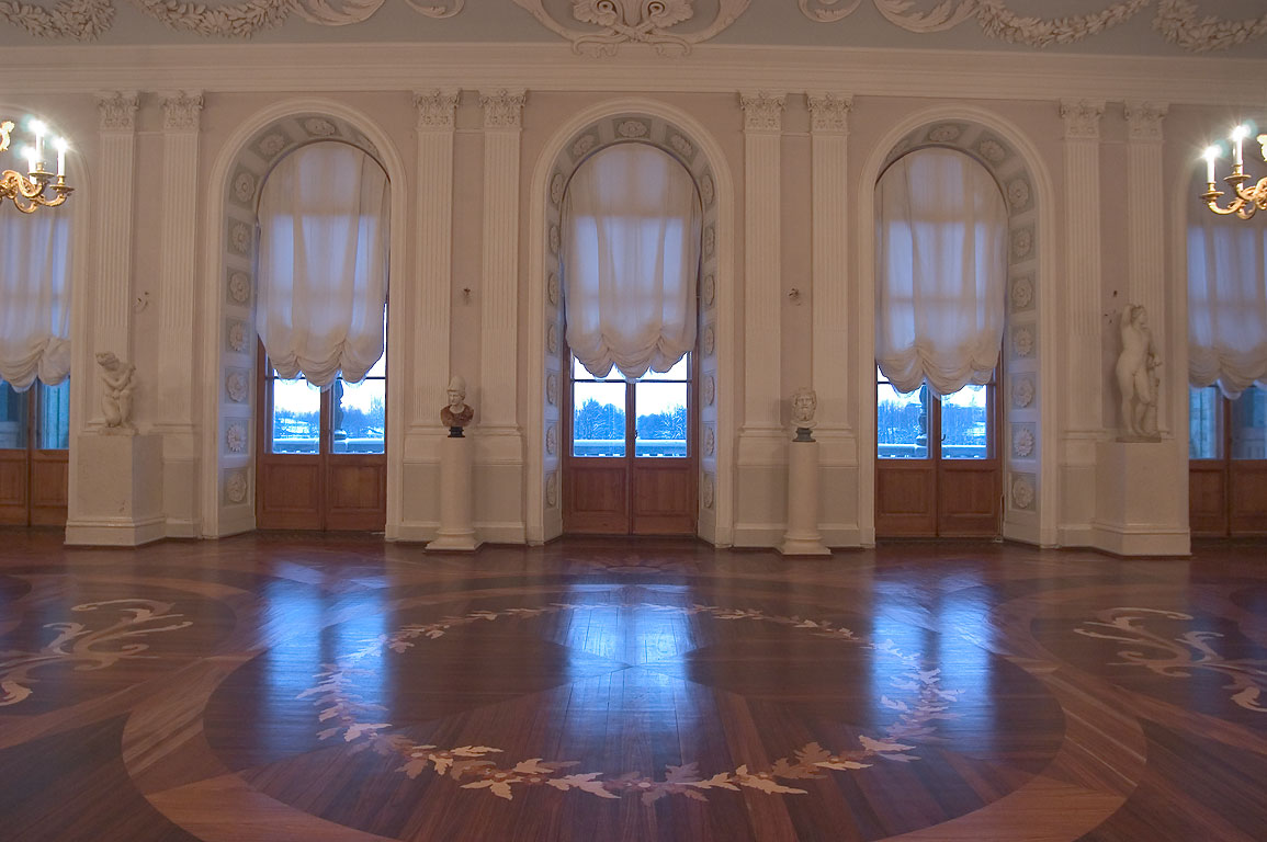 A living room in Gatchina Palace near St.Petersburg. Russia