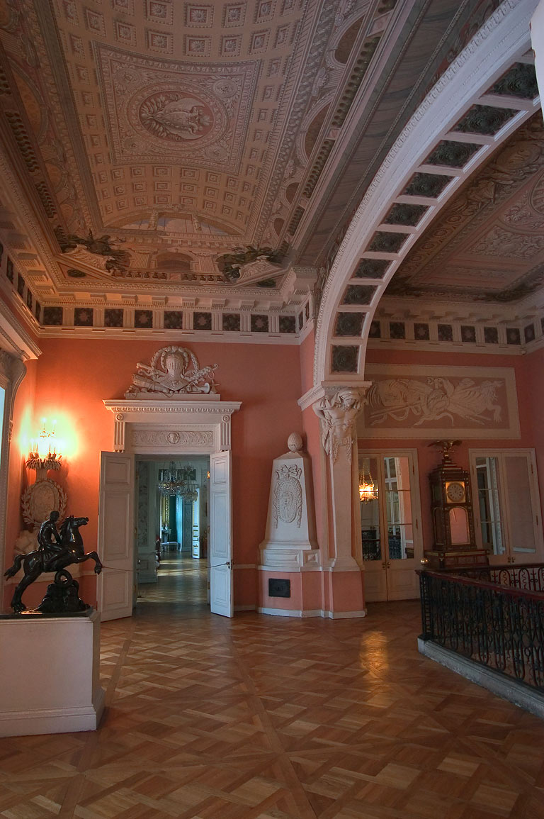 Second floor of Pavlovsky Palace. Pavlovsk, suburb of St.Petersburg, Russia