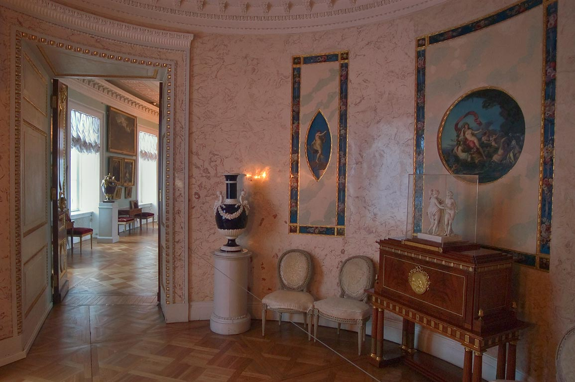 A hall in Pavlovsky Palace. Pavlovsk, suburb of St.Petersburg, Russia