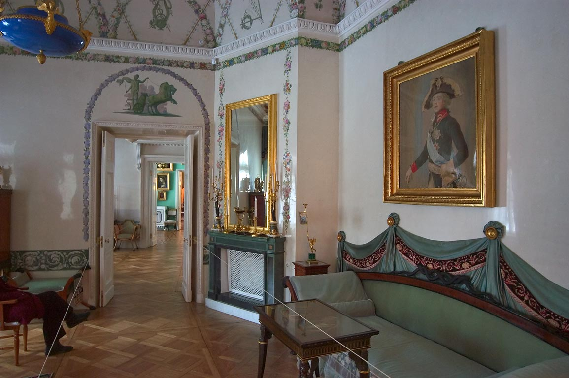 On the first floor in Pavlovsky Palace. Pavlovsk, suburb of St.Petersburg, Russia