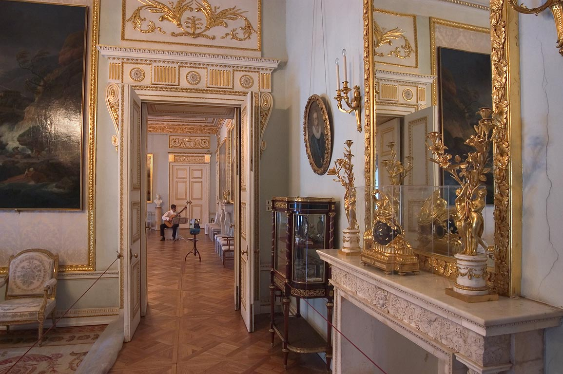 End of a corridor in Pavlovsky Palace. Pavlovsk, suburb of St.Petersburg, Russia