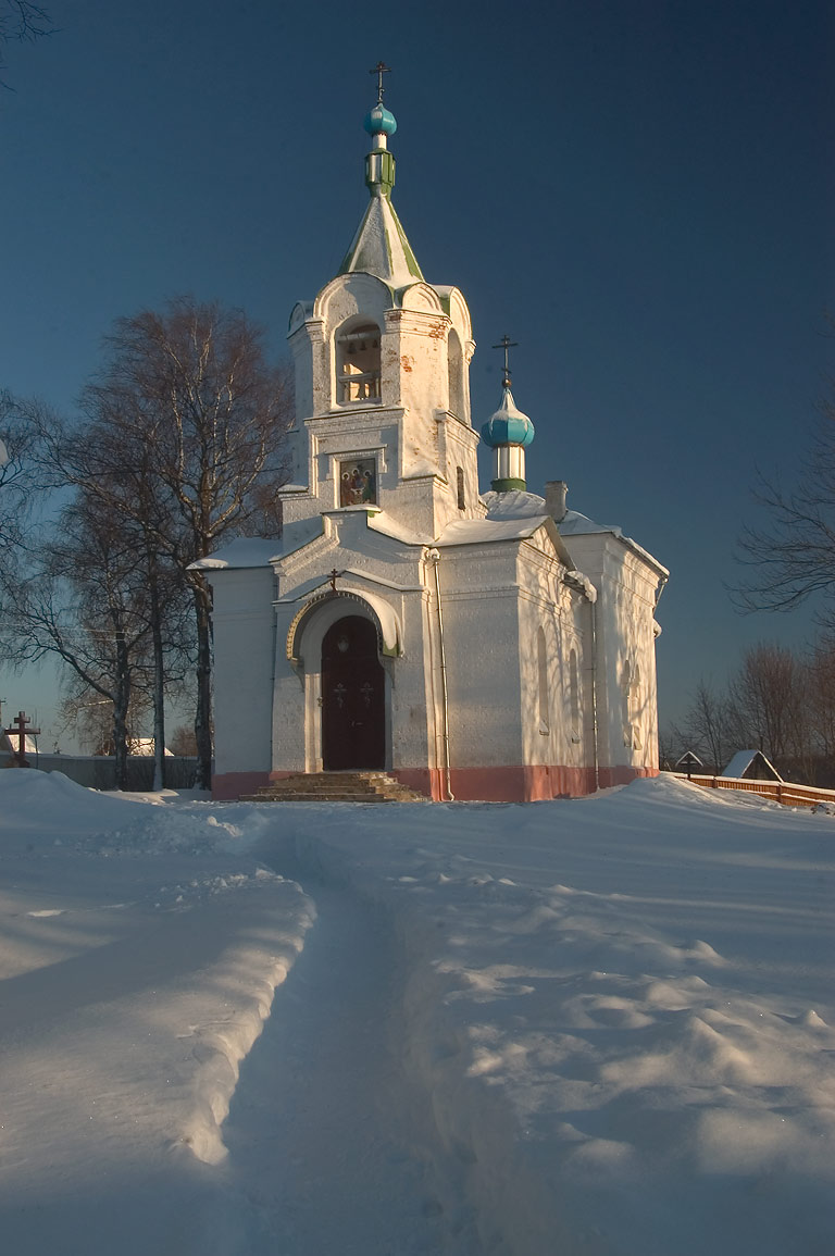 A church of Spaso-Troitsky Skit in village of...near Tikhvin, Leningrad Region. Russia